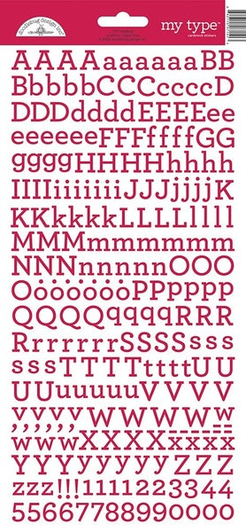 Just My Type Ladybug Red Alphabet Stickers