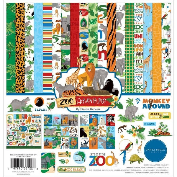 Zoo Adventure Paper Pack