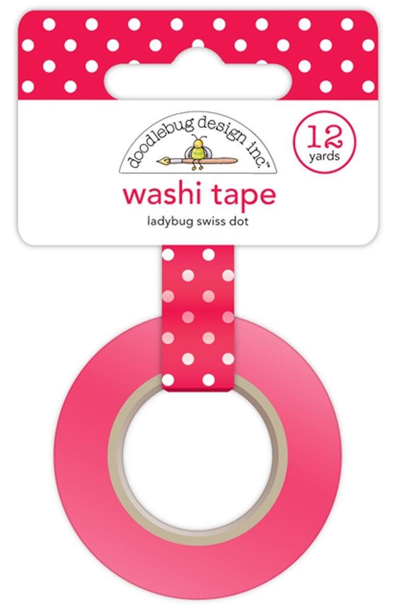 Ladybug Red Swiss Dot Washi Tape