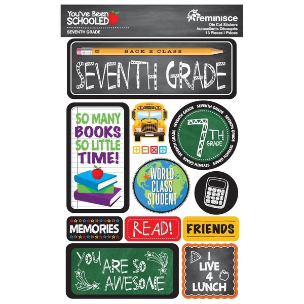 You've Been Schooled 7th Grade Stickers