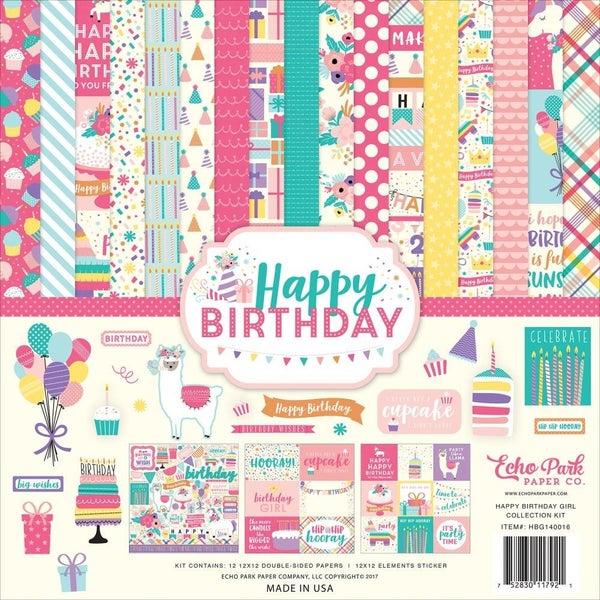 Happy Birthday Girl Paper Pack