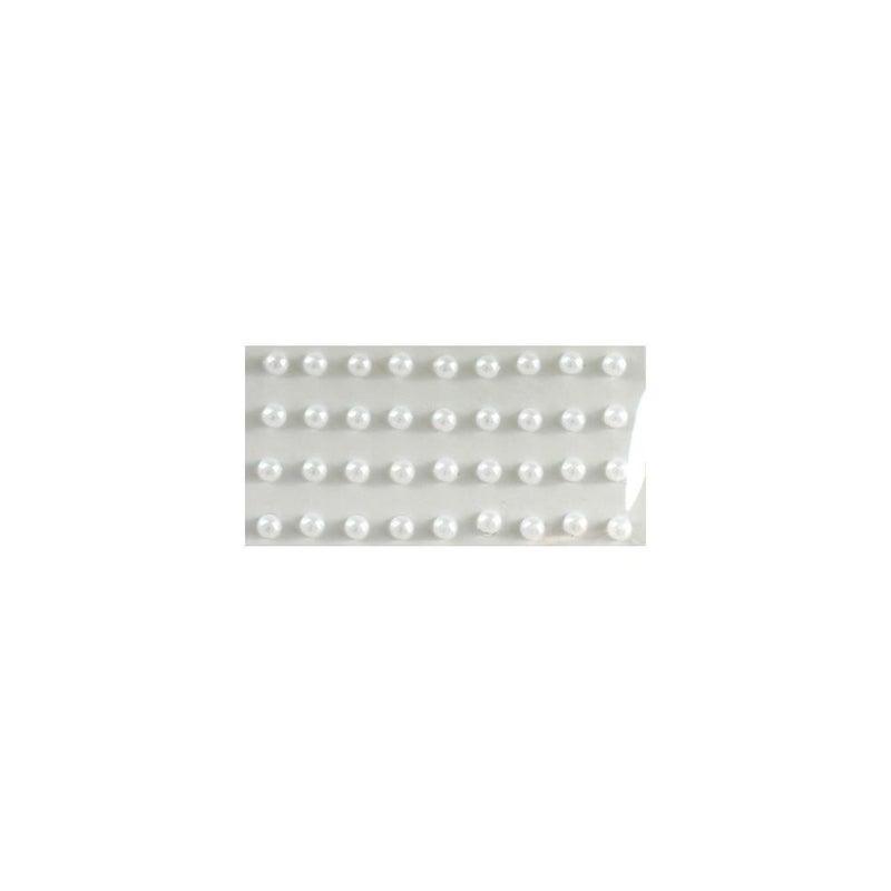 Adhesive Pearls 5mm - White