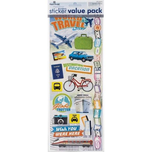 World Traveler Cardstock Stickers