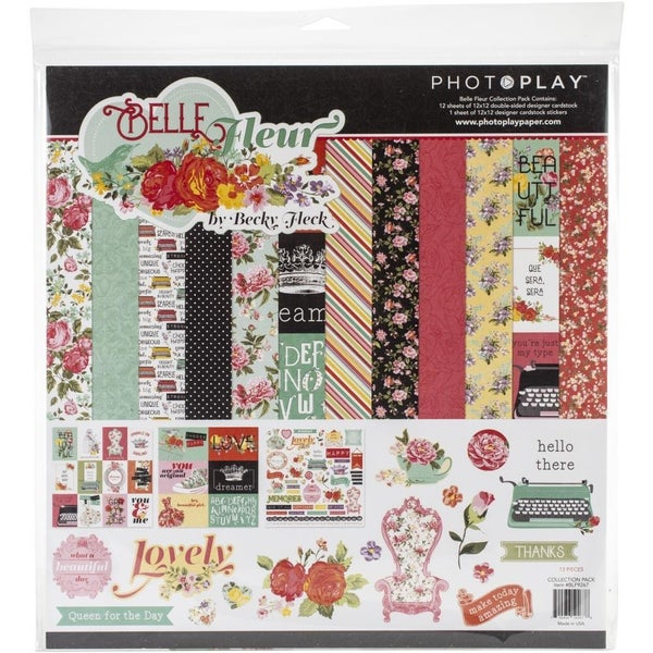 Photo Play Bella Fleur Paper Pack
