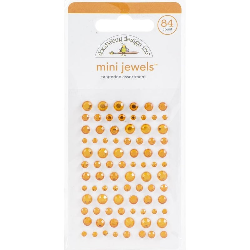 Doodlebug Mini Jewels - Tangerine