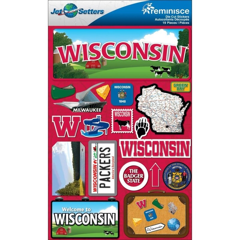 Jet Setters Wisconsin Travel Stickers