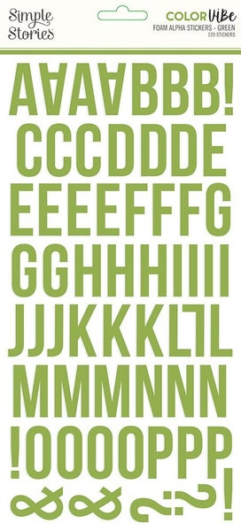 Green Foam Alphabet Stickers