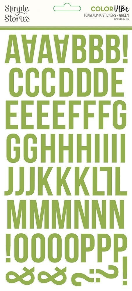 Green Foam Alphabet Stickers