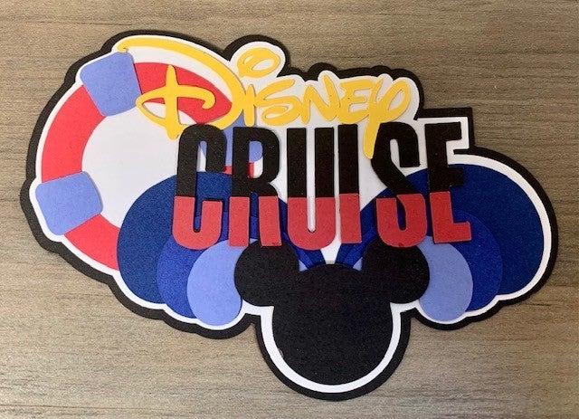 Disney Cruise Die Cut Size 5 x 3 1/4