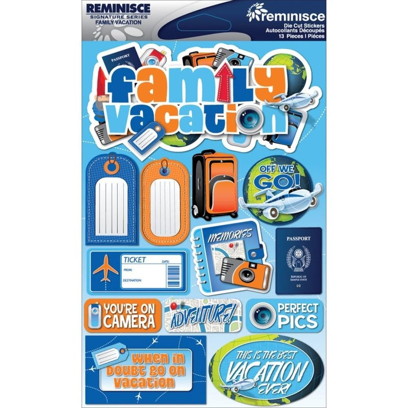 Family Vacation 3D Stickers