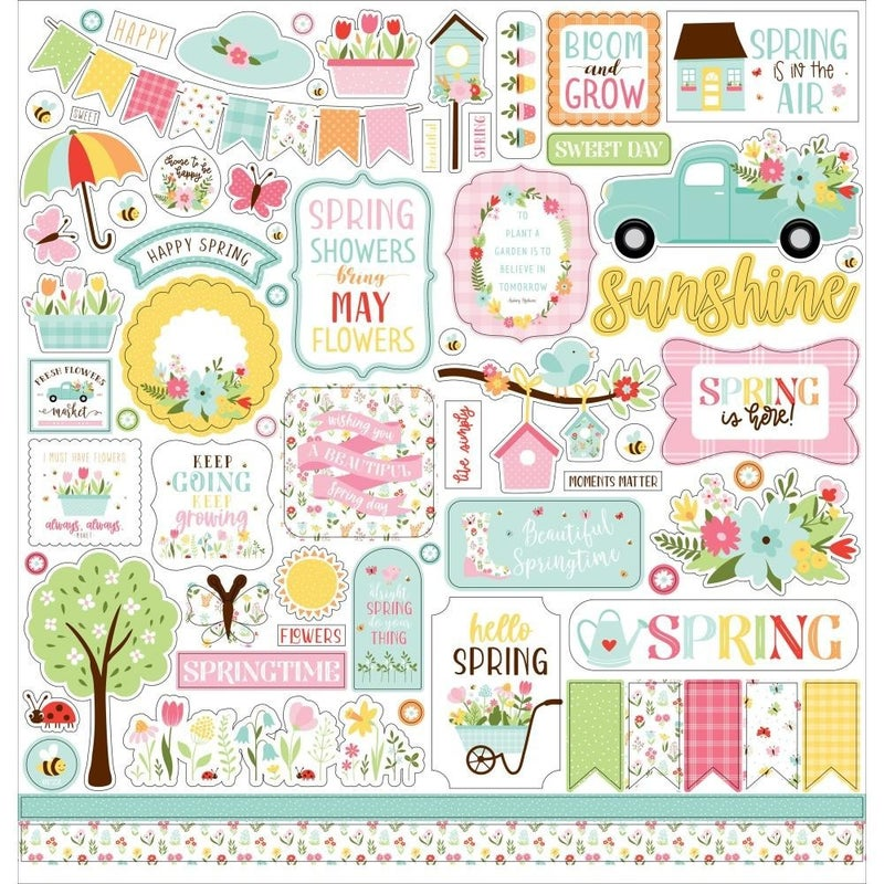 Welcome Spring 12x12 Sticker Sheet