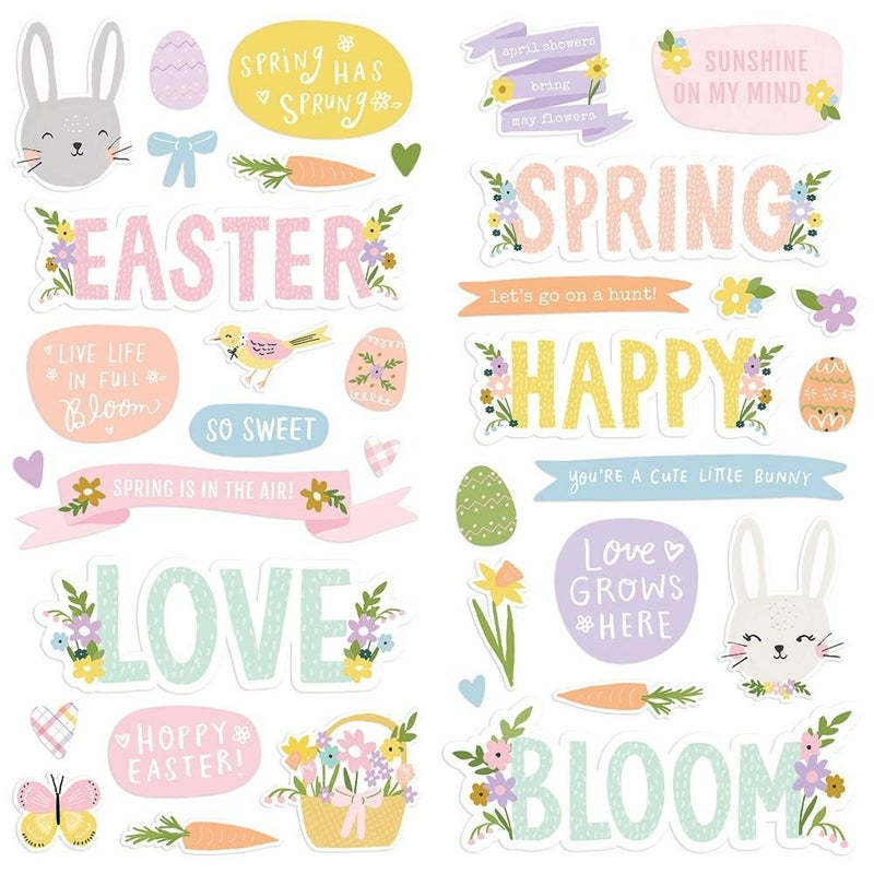 Bunnies & Blooms Foam Thickers