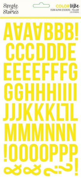 Yellow Foam Alphabet Stickers