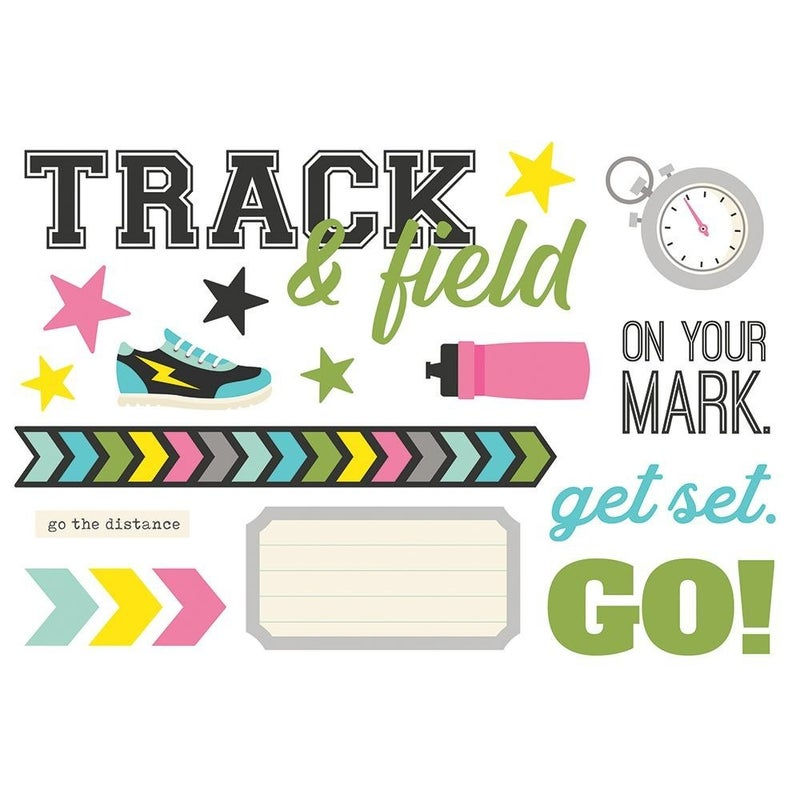 Track & Field Page Pieces