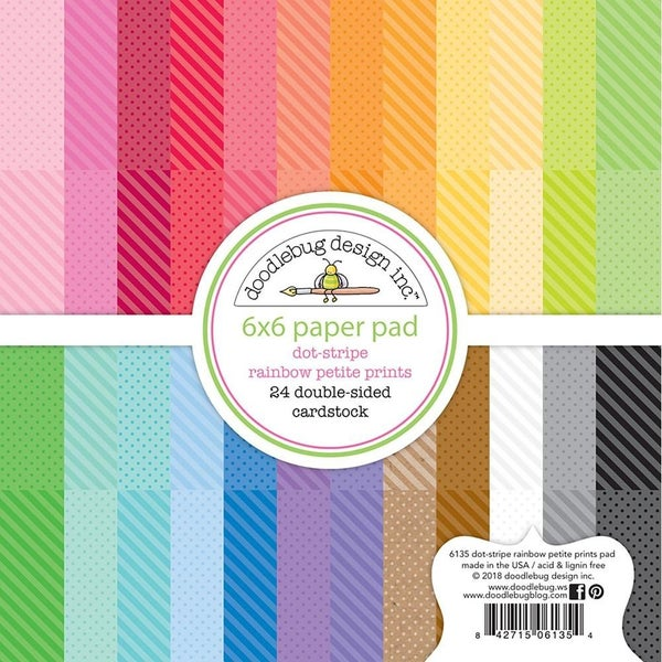 Doodlebug  Dot Stripe Paper Pack 6 x 6