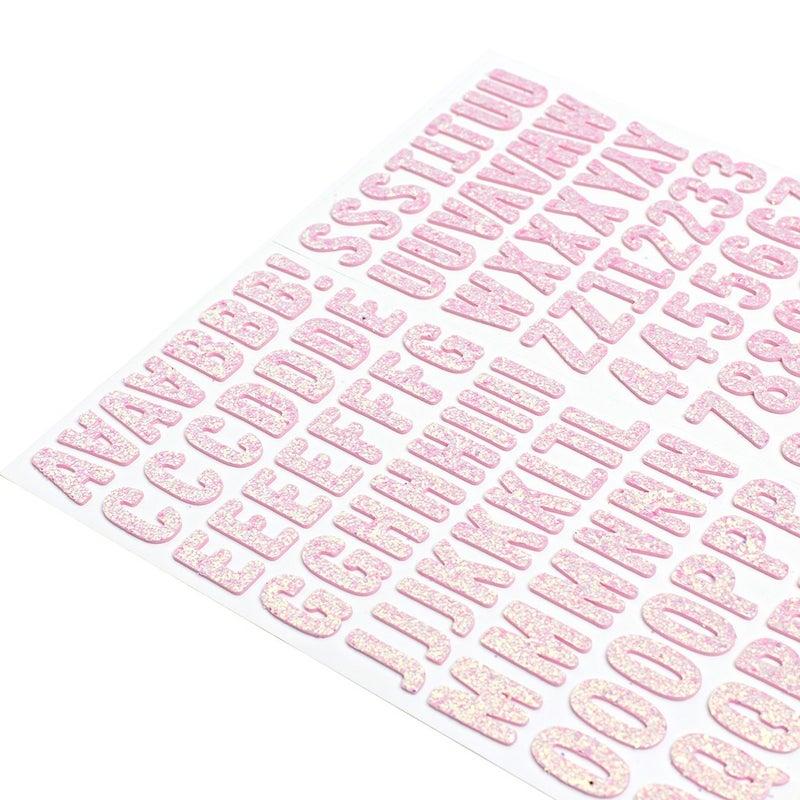 Maggie Pink Glitter Foam Alphabet Thickers