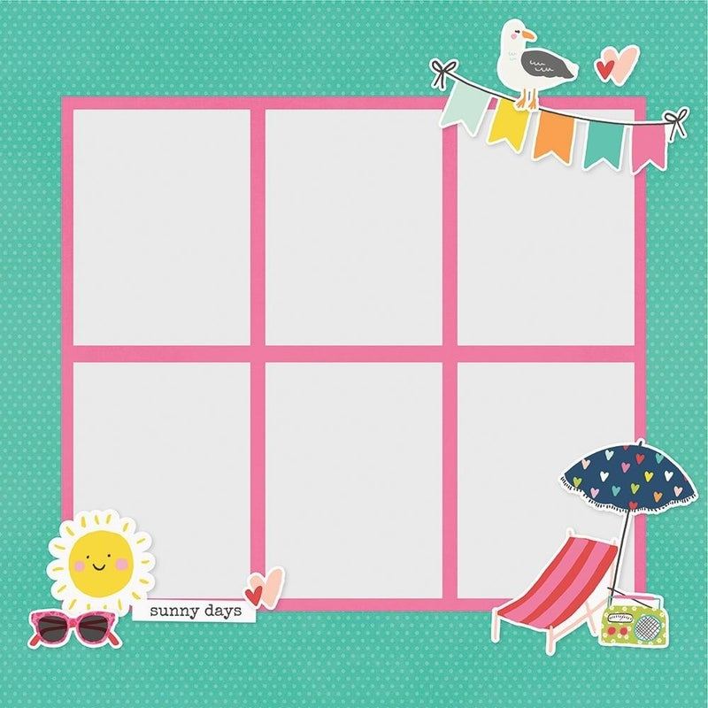 Simple Stories Sunkissed Summer Page Pieces - Summer Vibes