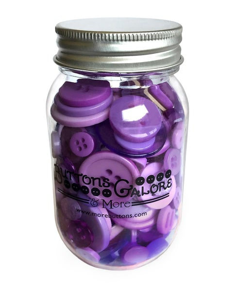 Buttons Mason Jar - Sour Grapes