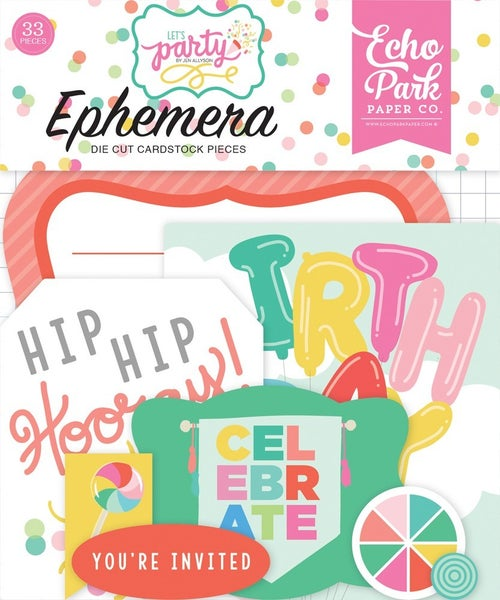Let's Party Birthday Ephemera