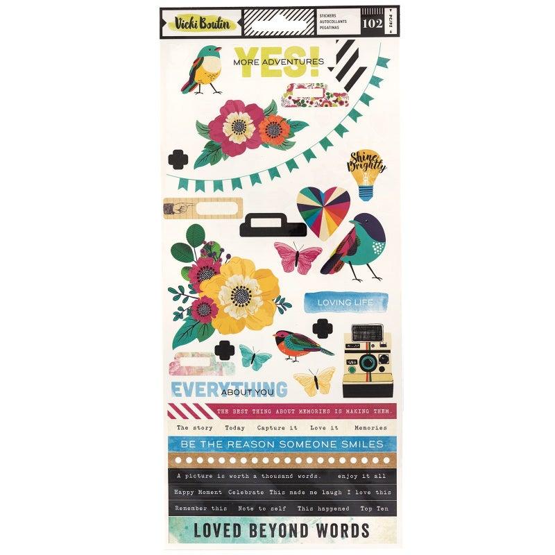 Color Kaleidoscope Stickers