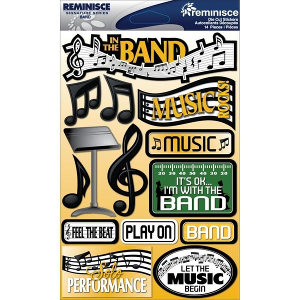 Band Music 3D Stickers