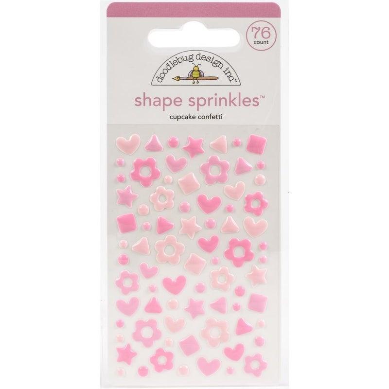 Sprinkles Confetti Shapes - Cupcake