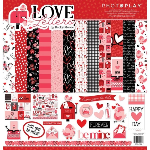 Photoplay Love Letters Valentine Paper Pack