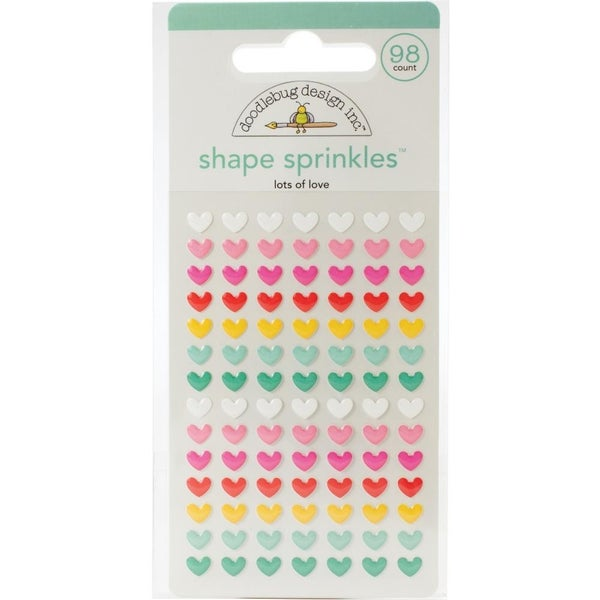 Doodlebug Sprinkles Epoxy Shapes - Lots of Love
