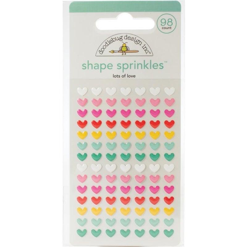 Doodlebug Sprinkles Epoxy Shapes - Lots of Love