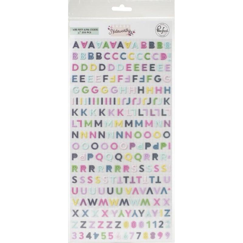 Noteworthy Mini Alphabet Stickers