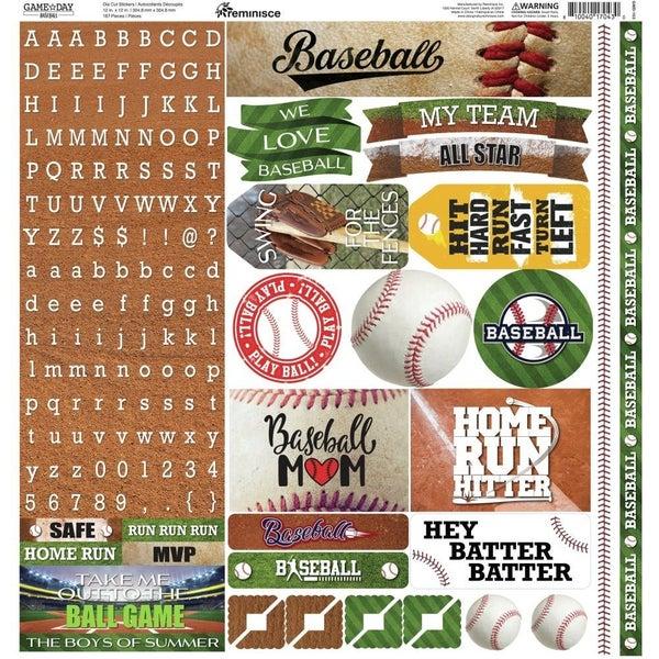 Game Day Baseball 12x12 Sticker Sheet