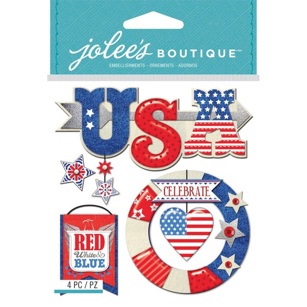 Red White & Blue Stickers