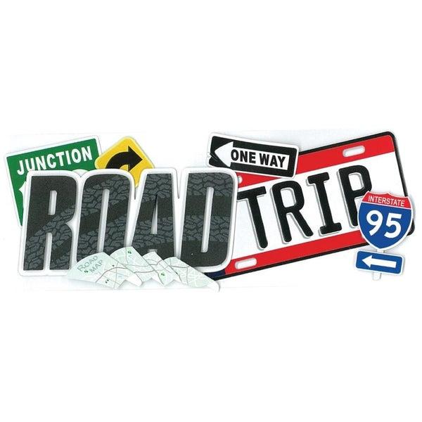 Road Trip Travel Dimensional Title