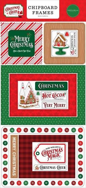 Christmas Cheer Chipboard Frames