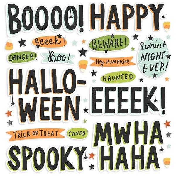 Spooky Nights Halloween Foam Stickers