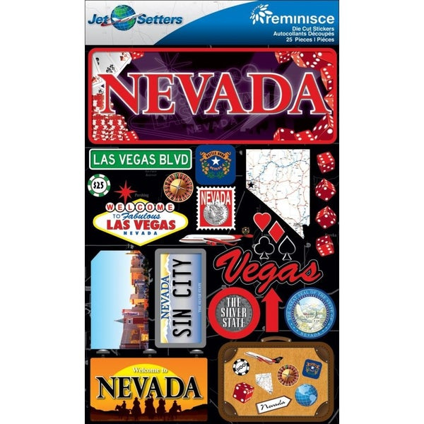 Jet Setters Nevada Stickers