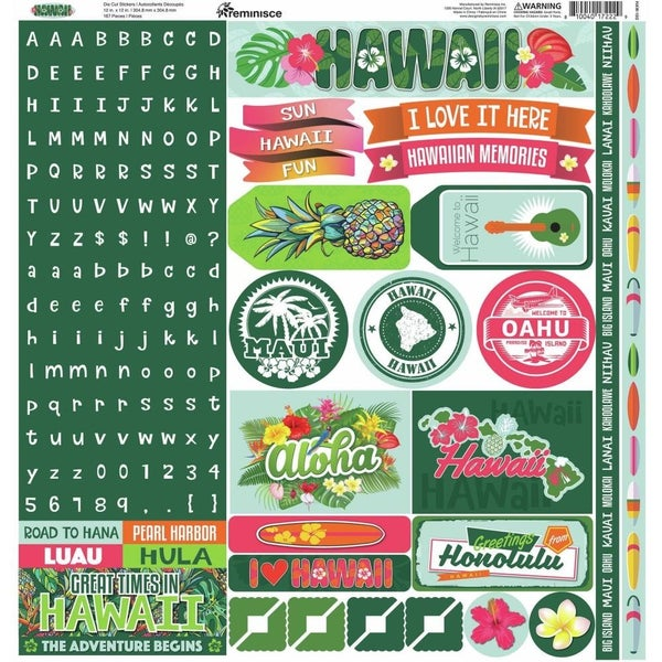 Hawaii 12x12 Sticker Sheet