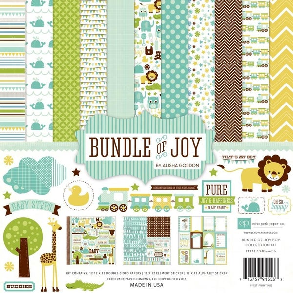Echo Park Bundle of Joy Boy Paper Pack