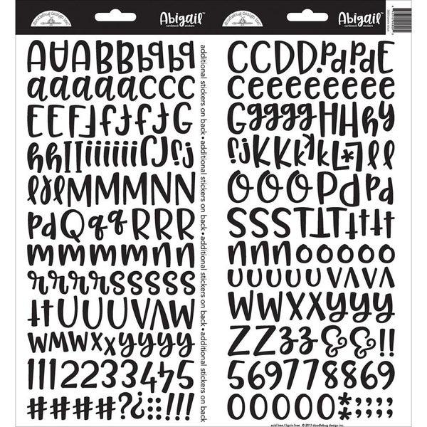 Abigail Alphabet Stickers -Beetle Black