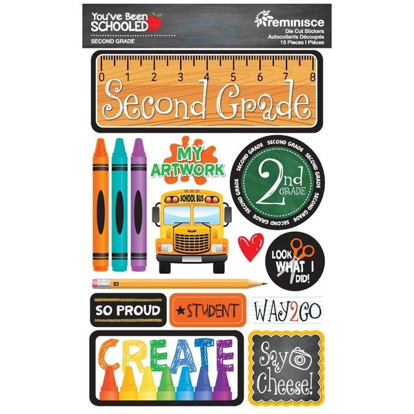 You've Been Schooled 2nd Grade Stickers