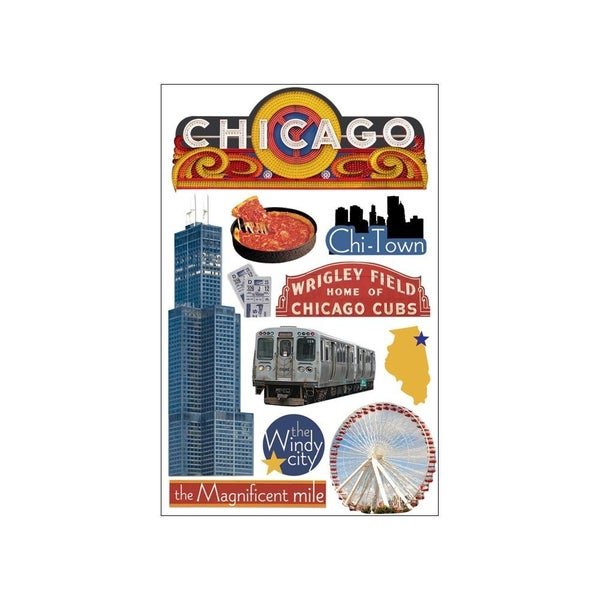 Chicago 3D stickers