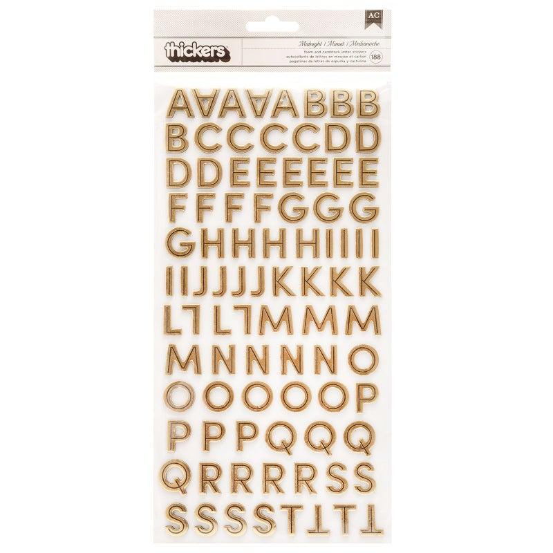 Midnight Alphabet Thickers