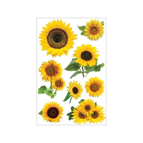 3D Sunflower Stickers