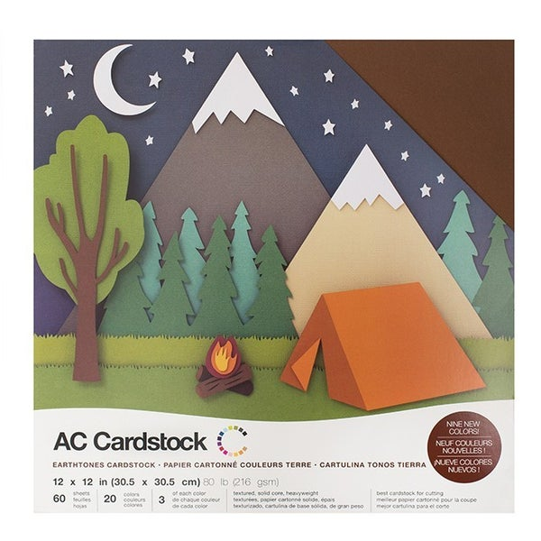 American Crafts Earthtones Cardstock Pack Qty 60