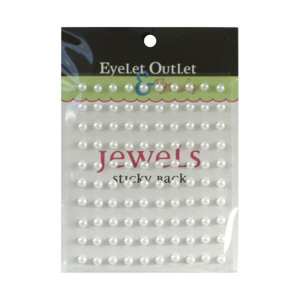 Adhesive Pearls 5mm - White