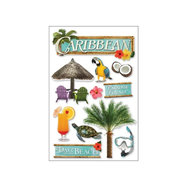 3D Caribbean Stickers