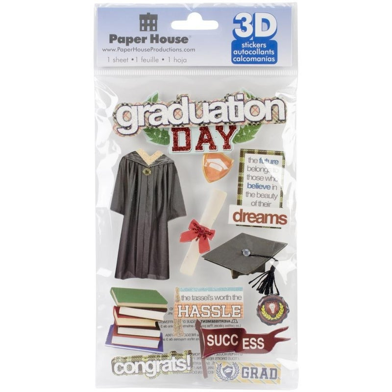 3D Graduation Stickers