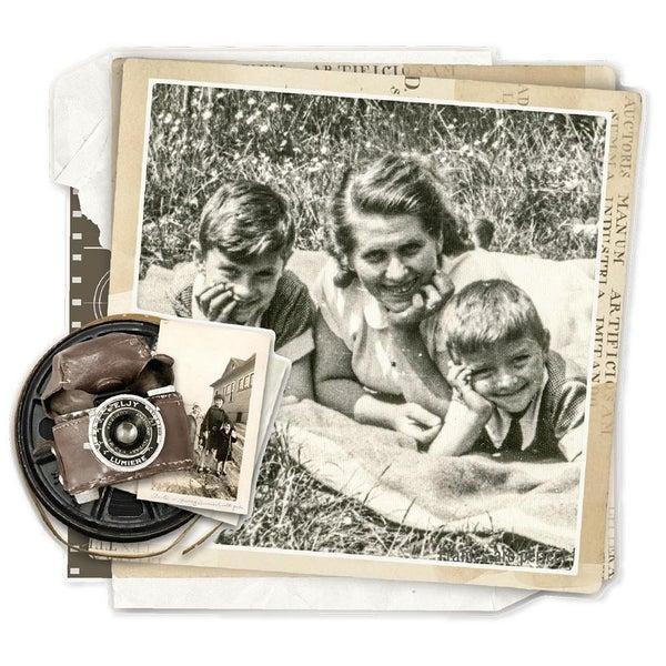 Simple Vintage Ancestry Chipboard Frames