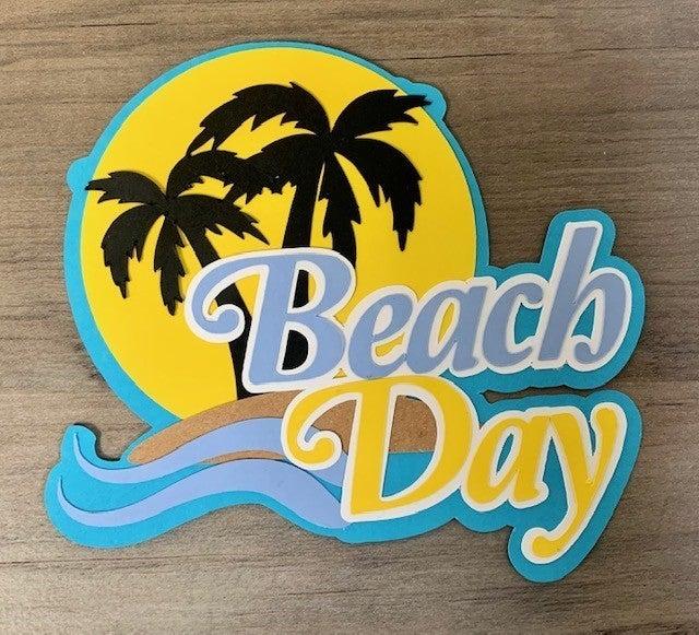 Beach Day Die Cut Size 4 x 4 1/2