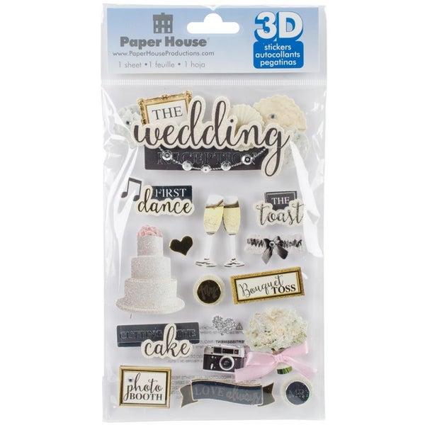3D Wedding Reception Stickers